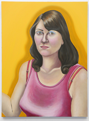 Emily Roz Self Portraits oil on wood panel