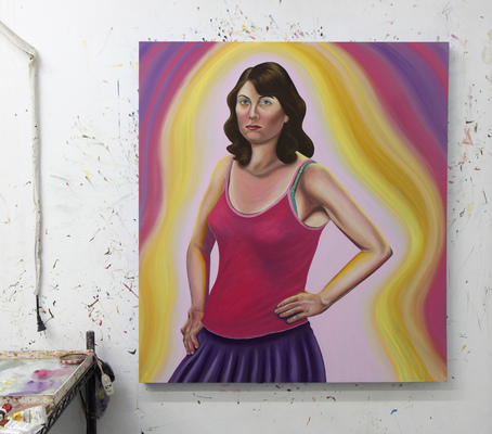Emily Roz Studio 32 x 36 inches, oil on wood panel