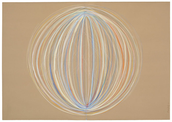 Emily Weiskopf Arcs & Orbs  2009-2012 Watercolor and graphite on paper