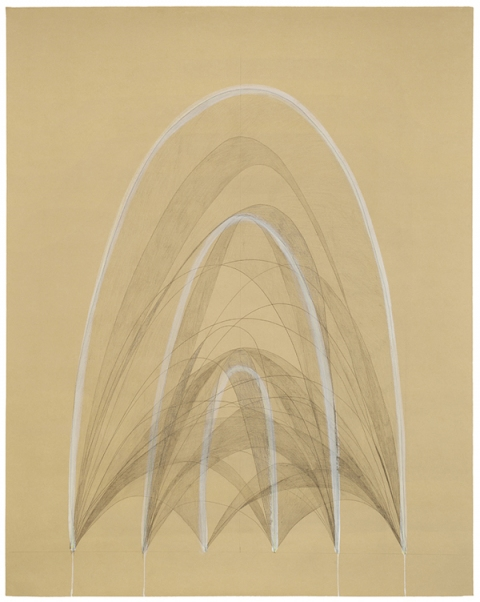 EMILY WEISKOPF Arcs & Orbs  2009-2012 Graphite and Gouache on Paper