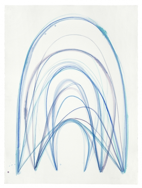 EMILY WEISKOPF Arcs & Orbs  2009-2012 Watercolor on paper