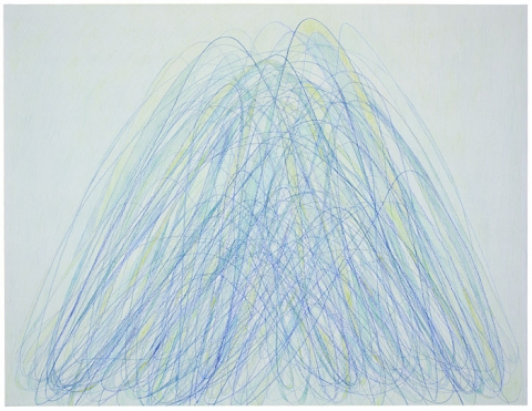 Emily Weiskopf Arcs & Orbs  2009-2012 Colored Pencil on Paper
