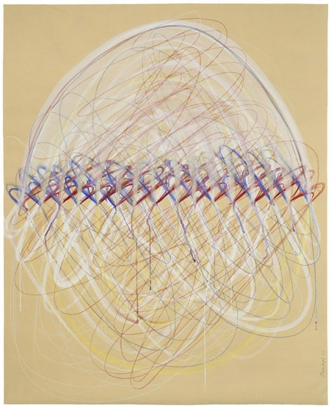 EMILY WEISKOPF Arcs & Orbs  2009-2012 Watercolor and colored pencil on paper