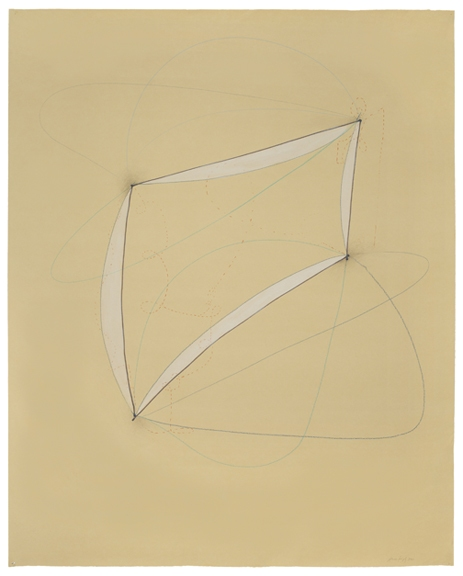 Emily Weiskopf Arcs & Orbs  2009-2012 Gouache and colored pencil on Paper