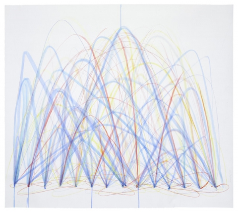 Emily Weiskopf Arcs & Orbs  2009-2012 Watercolor colored pencil on Paper