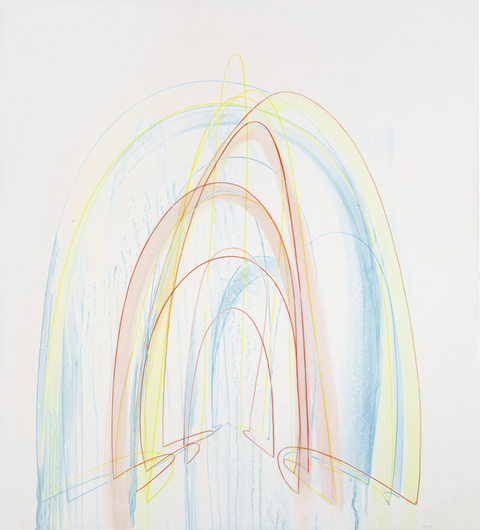 EMILY WEISKOPF Gates of Dust & Dawn  2010-2012  Watercolor, dye and Colored Pencil on Vellum