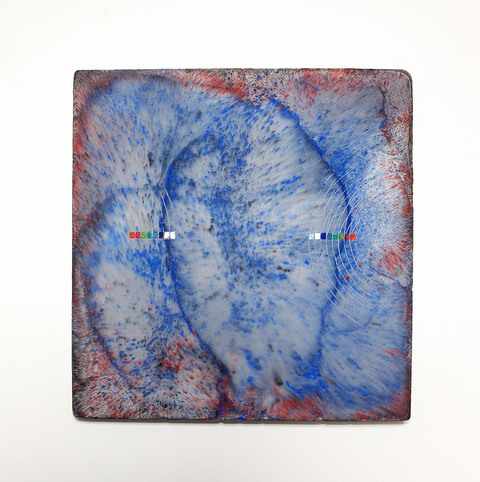 Emily Weiskopf Pixan Paths 2015 - Oxides, enamel, and plaster