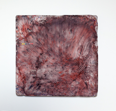 Emily Weiskopf Pixan Paths 2015 - Plaster, oxides and enamel
