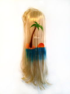 ERIC MISTRETTA PAINTINGS Spray paint on wig