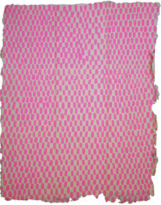 ERIKA NAKATANI Works On Paper gouache on handmade pink cotton paper