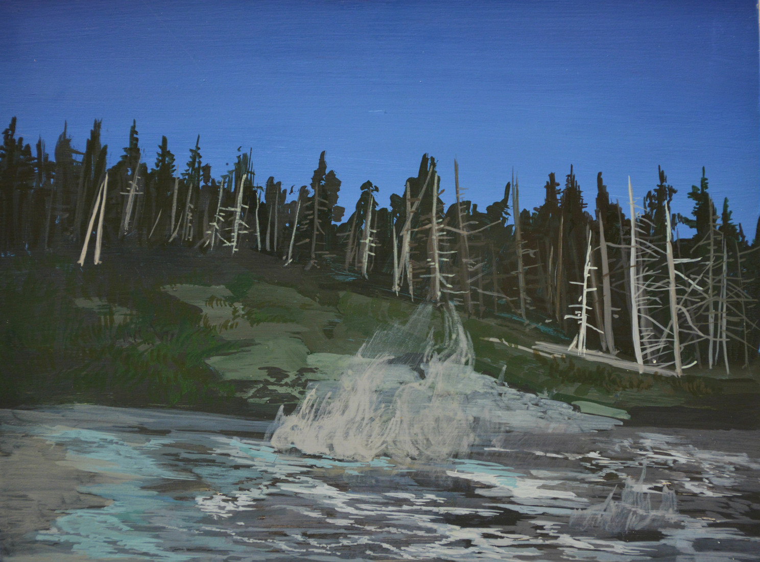Paintings Grand geyser