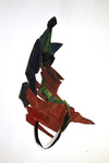 Paper Sculptures Paper Assemblages created with my Recycled Paintings