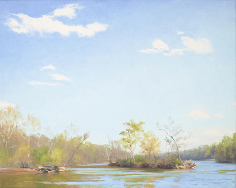Erling Sjovold Old River, New Shore Oil on linen