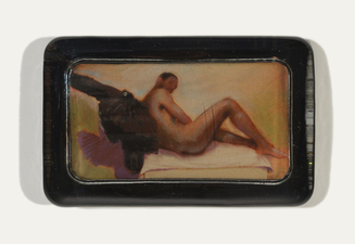ERIC SHULTIS  Photo photo, pastel, glass paperweight