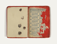 ERIC SHULTIS Objects oil on gesso paper, small book 1948
