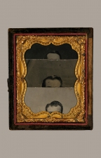 ERIC SHULTIS  Photo tin types, Victorian frame with glass