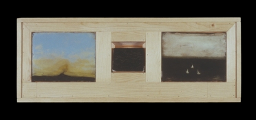 ERIC SHULTIS Earlier Paintings oil on board, photo emulsion, wood