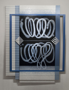 Exhibit 208 Lucy Maki oil on wood, canvas over stretcher and panel