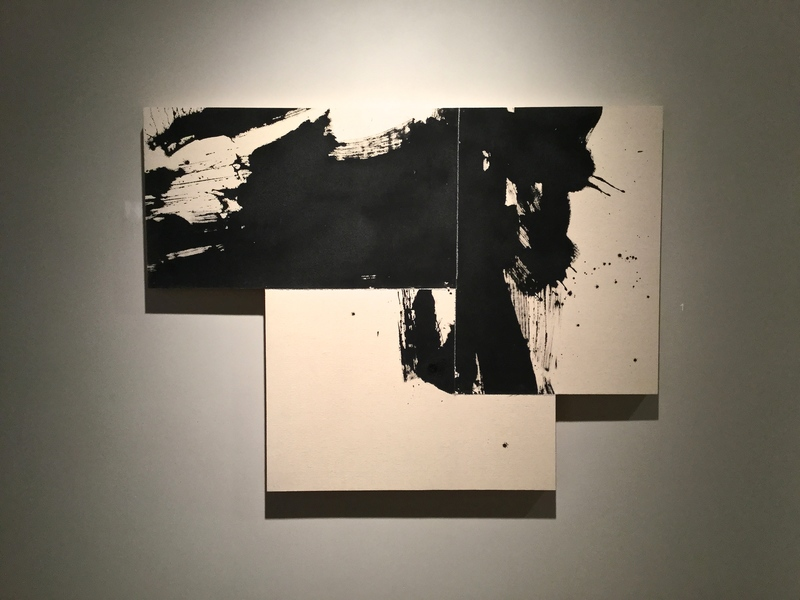 Exhibit 208 Zachariah Rieke black gesso on raw canvas