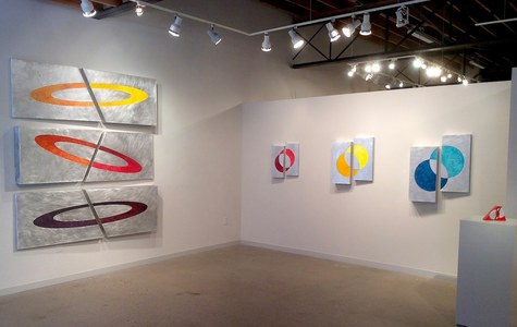 Exhibit 208 KX2: Ruth Avra & Dana Kleinman 3D aluminum constructions with oil on canvas