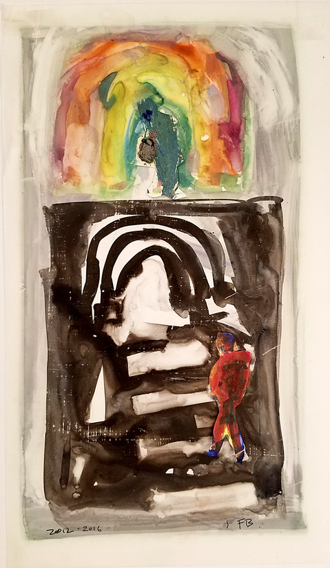 Works On Paper Rainbow Walker Study
