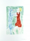 FB @ Oehme Graphics Watercolor monotype from vellum.
