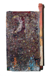 New Work oil, glitter on wood construction.