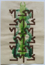 FIEROZA DOORSEN 2011 Mixed media on paper