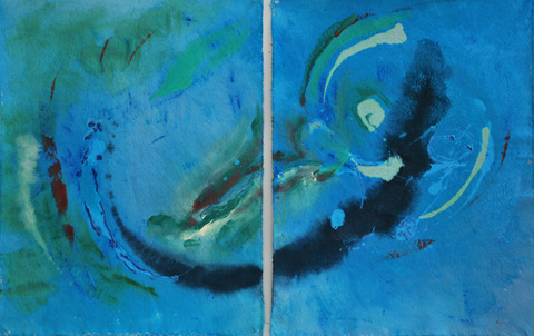 Paintings Skydance (diptych)