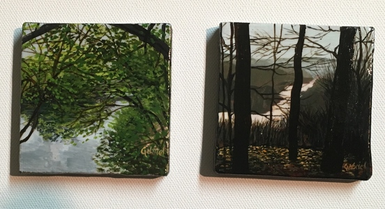 David Bottini: paintings 'for Gabriel' Miniature and study paintings acrylic on canvas
