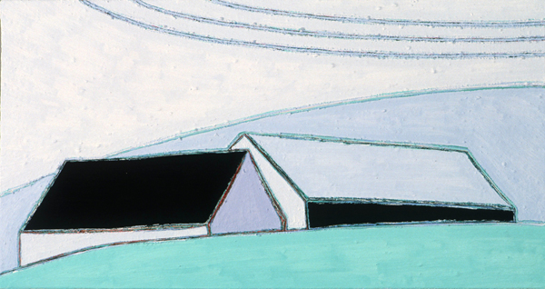 PAINTINGS 1980-1988 Two Sheds and Phone Wires
