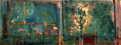 PAINTINGS 1989-1998 Flamingo Pond (diptych)