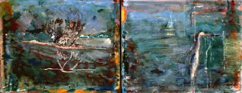 PAINTINGS 1989-1998 Heron Bay (diptych)