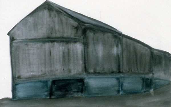 WORKS ON PAPER 1980-1990 Grey Barn
