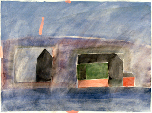 WORKS ON PAPER 1980-1990 Two Barns, Indian Island, ME