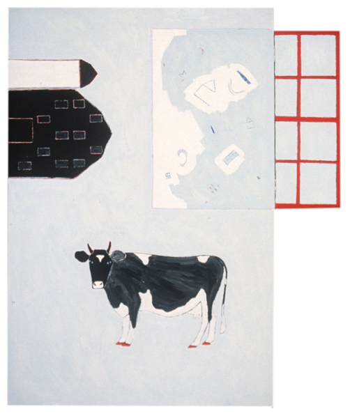 ANIMALS Cow and Window (two sections, right section hinged)