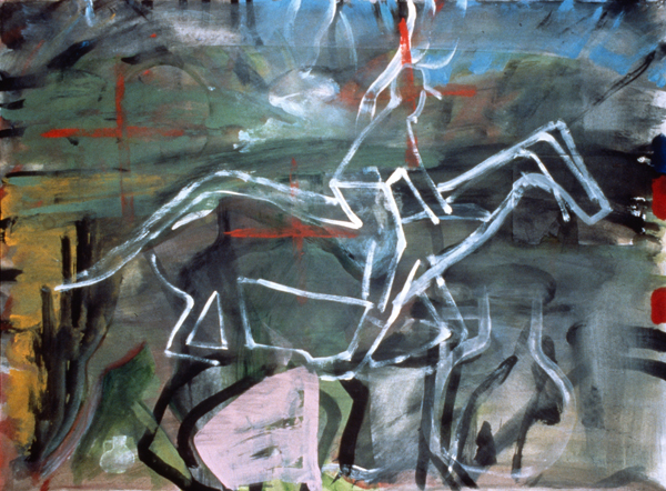 WORKS ON PAPER 1990-1997 Red Cross Rider