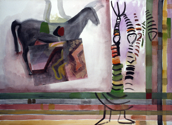 WORKS ON PAPER 1990-1997 Spirits and the Jockey