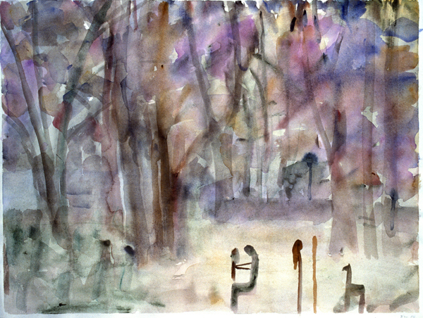 WORKS ON PAPER 1990-1997 Scenes From Life:  Figures in the Forest (Monhegan)
