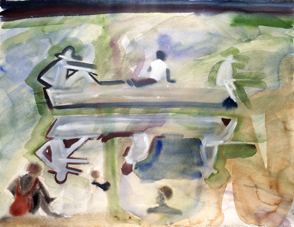 WORKS ON PAPER 1990-1997 Boating