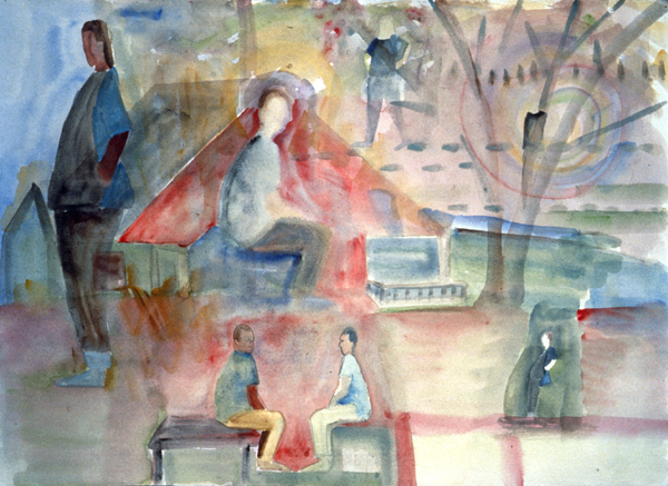 WORKS ON PAPER 1990-1997 Layers of Time:  Conversations II (Monhegan, Lobster Cove)