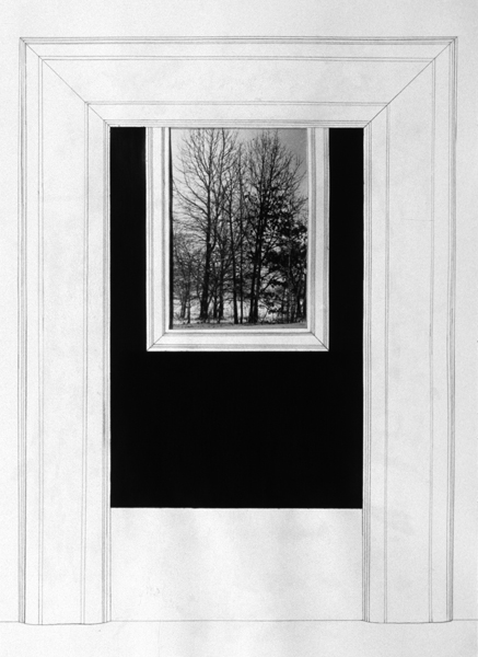 P. S.1:  (1976–1978) PHOTOGRAPHY/DRAWING/DIARY Entry and Window