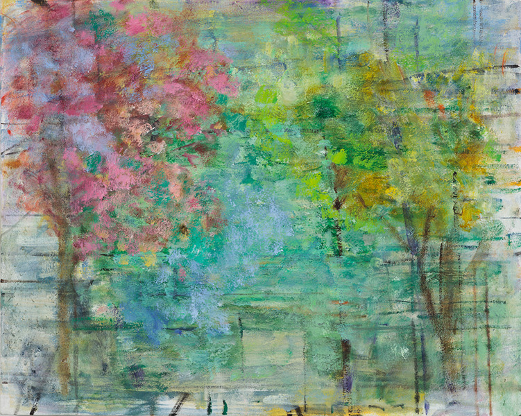 PAINTINGS 2017 Two Trees, Spring