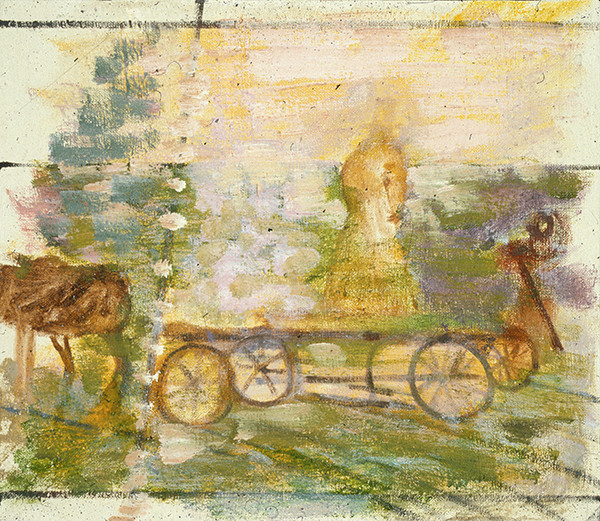 SMALL PAINTINGS Hay Wagon