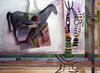 WORKS ON PAPER 1990-1997 watercolor, gouache and collage on TH Saunders paper