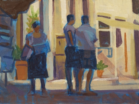 Frank Hobbs Paintings: Figures  Acrylic on panel