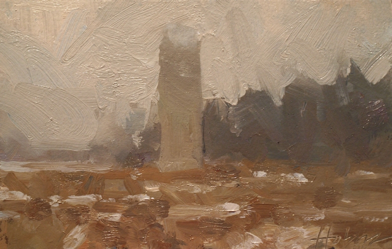 Frank Hobbs Paintings: Rural Oil on rag paper