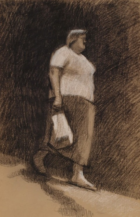 Frank Hobbs Drawings Charcoal, conte on toned laid paper