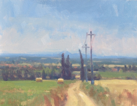 Frank Hobbs Paintings: Italy Oil on rag paper