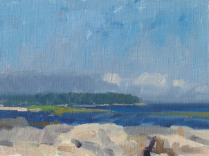 Frank Hobbs Paintings: Maine Oil on canvas panel